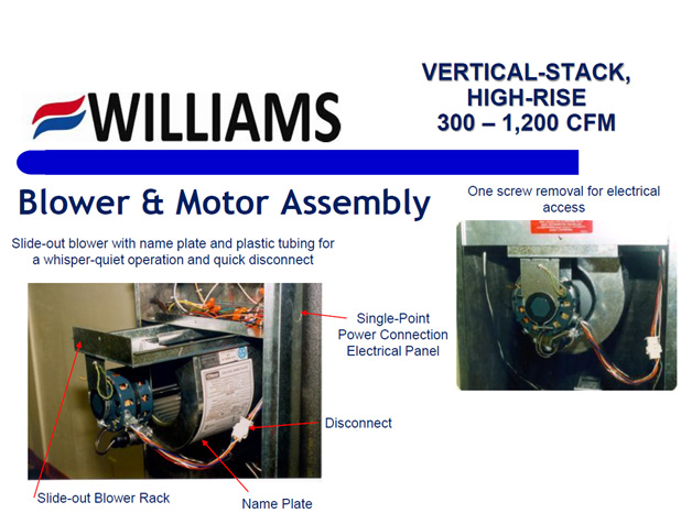 Vertical Stack Series Blower Motor Assembly
